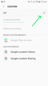 save battery power by turning off location services, how to turn off location services
